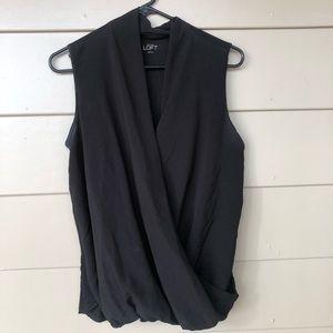 LOFT drapey blouse